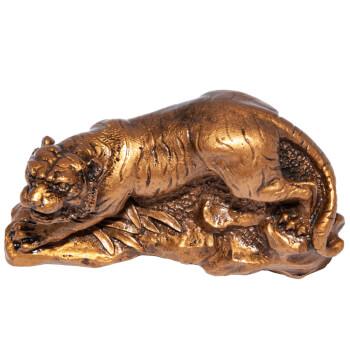 Tigru feng shui, amuleta pentru obstacole si prieteni loiali, rasina, auriu