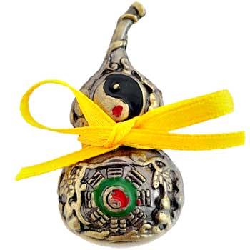 Wu Lou, amuleta sanatate pentru protectia de boli, tartacuta feng shui metal auriu, 4 cm