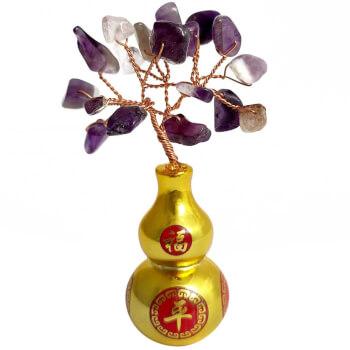Copacei Wu Lou cu pietre semipretioase, simbol pentru protectia de energii negative a relatiei de dragoste, mov