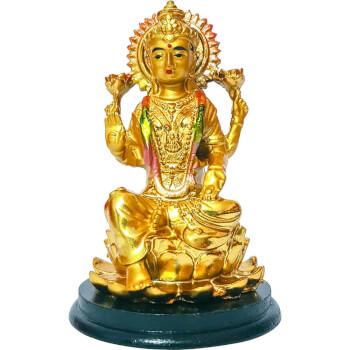 Zeita bogatiei Lakshmi, remediu Feng Shui pentru bani si spor in casa si la munca, statueta aurie Laxmi